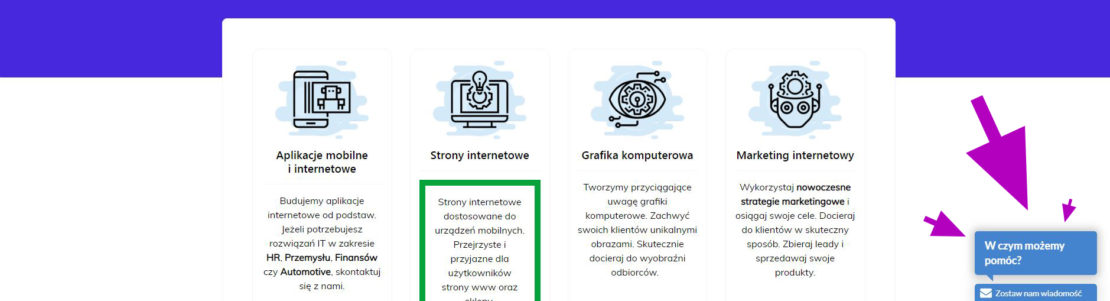 live chat na stronę www