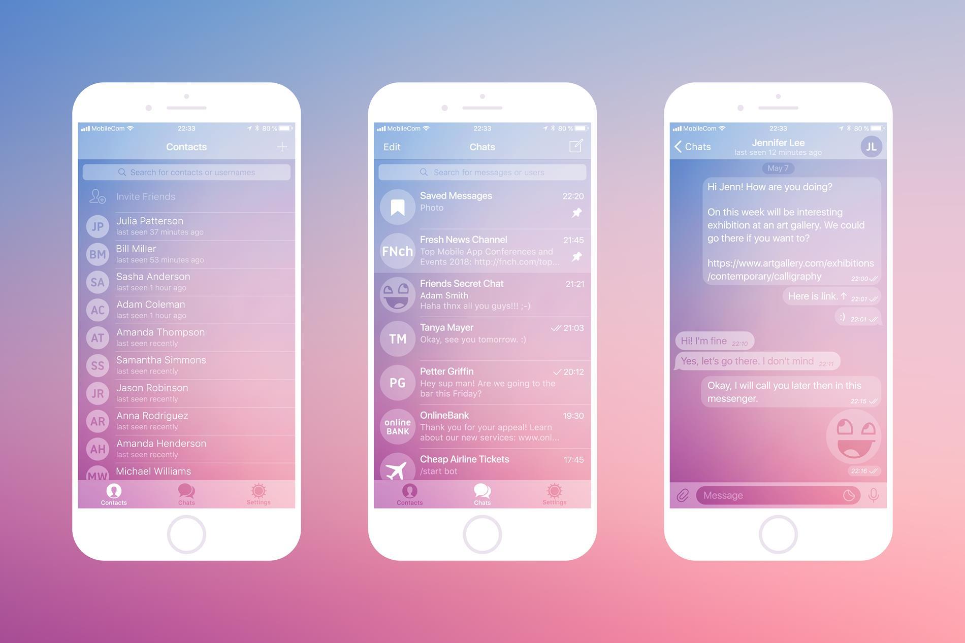 Aplikacje mobilne do komunikacji